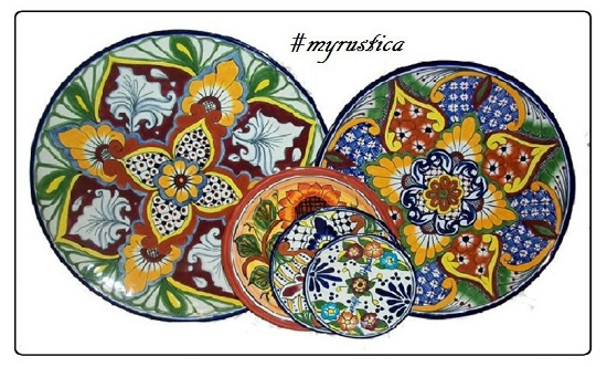 rustic home accent wall talavera plates